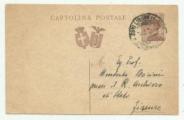 CART. POSTALE  DEL 1930  FP - 1900-44 Vittorio Emanuele III