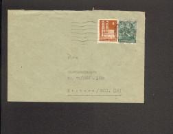 Bizone Fernbrief Mit 16 Pfg.Arbeiter Netzaufdruck U.4 Pfg. Bauten Aus Remscheid 1 V. 18.9.1948 (Vorderseite) - Bizone