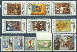 Libye République 9 TP Neufs** + N° 1110 Neuf* + N° 1210 Oblitéré (offert, Dentelure Incomplète) 1983 - Libye
