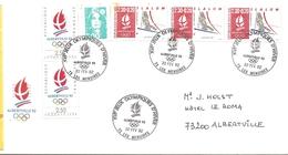 1992  Jeux Olympiques Albertville :Les Menuires Site Du Ski Alpin; Lettre Comité D'organisation