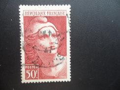 Année 1945 47 N° 732 Oblitéré Marianne De Gandon 22X36 50F Brun