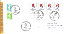 1992  Jeux Olympiques Albertville :Brides Les Bains Centre Presse; Lettre Recommandée,