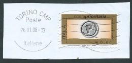 Italia 2006; Posta Prioritaria Da € 0,60, Senza Millesimo ; Su Spezzone. - 6. 1946-.. Repubblica