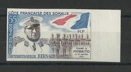 COTE DES SOMALIS - POSTE AERIENNE - YVERT N°27 NON DENTELE ** MNH - Französich-Somaliküste (1894-1967)