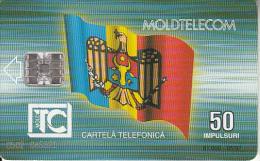 MOLDOVA - Flag, Monument, Moldtelecom Telecard 50 Units, Tirage 61000, 05/97, Used