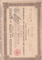 ACTION 100 FRS - COMPAGNIE DES MINES DE SIGUIRI -ANNEE 1914 - Mines
