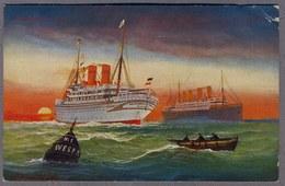 Friedrich Der Grosse Und KAISER WILHELM II Uber 1910   D264 - Steamers