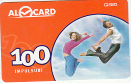 MOLDOVA - Couple, Moldcell Prepaid Card 100 Units, Used