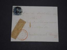 BELGIQUE - Lettre De Nieuport Pour Brugge En 1851 , Affranchissement Plaisant  A Voir - L 4883 - 1851-1857 Medaglioni (6/8)