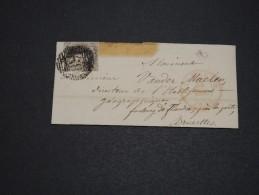 BELGIQUE - Lettre Pour Bruxelles En 1850 , Affranchissement Plaisant  A Voir - L 4885 - 1849-1865 Medallions (Other)