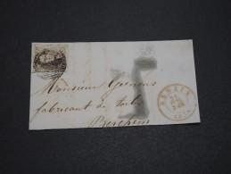 BELGIQUE - Lettre De Henaix Pour Berchem En 1856 , Affranchissement Plaisant  A Voir - L 4886 - 1851-1857 Medaglioni (6/8)