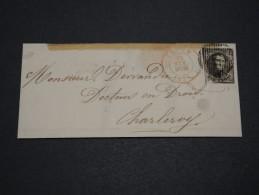 BELGIQUE - Lettre Pour Charleroy En 1855 , Affranchissement Plaisant  A Voir - L 4887 - 1851-1857 Medaglioni (6/8)