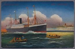 """Dover, Passagierschiff """"Main"""" Uber 1910y.  D267 - Steamers"""
