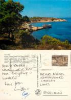 Moni Islet, Aegina, Greece Postcard Posted 1985 Stamp - Grecia