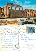 Lindos, Rhodes, Greece Postcard Posted 1981 Stamp - Grecia