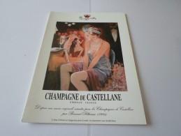 N CHAMPAGNE DE CASTELLANE EPERNAY VERNISSAGE MME PELTRIAUX 07 MAI  ? - Faire-part
