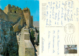 Lindos, Rhodes, Greece Postcard Posted 1980 Stamp - Grecia