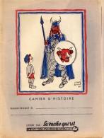 PROTEGE - CAHIER  -  LA  VACHE  QUI  RIT  -  Cahier D'Histoire  -  Dessin De Hervé Baille  - Fromageries BEL - Food