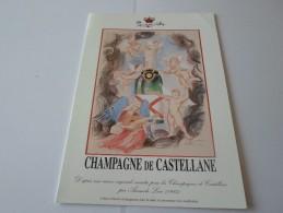 N CHAMPAGNE DE CASTELLANE EPERNAY VERNISSAGE PEINTURE SCULPTURE  LIONS 1999 18 MARS - Faire-part