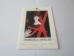N CHAMPAGNE DE CASTELLANE EPERNAY VERNISSAGE PETROZZIAN  16 AVRIL  ? - Faire-part