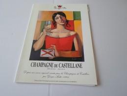 N CHAMPAGNE DE CASTELLANE EPERNAY VERNISSAGE DU SALON ORANGE 26 SEPTEMBRE  2000 - Faire-part
