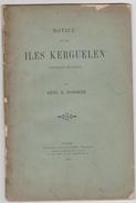 TAAF - Kerguelen - Bossiere - Notice - Climat - Peche - Elevbage - Ressources - ...-1955 Prephilately