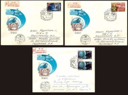 FDCs. USSR 1984 SK № 5490-5492 25 Years Of Space TELEVISION - UdSSR