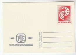 1971 POLAND Postal STATIONERY CARD  Illus POLISH ECONOMIC SOCIETY ANNIV Cover Stamps Economy Finance - Stamped Stationery