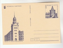 1979 POLAND Postal STATIONERY CARD  Illus PROTECT SZEZECIN MONUMENTS, CASTLE Cover Stamps - Castles