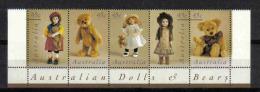 Australia 1997 Dolls And Bears Strip 1 Y.T. 1583/1587 **