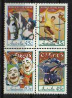 Australia 1997 Circus 4-block Y.T. 1577/1580 **