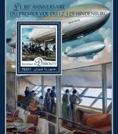 DJIBOUTI 2016 - Zeppelin LZ 129 Hindenburg S/S. Official Issue - Zeppelins