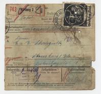 Nürnberg 3  Bulletin D'expédition Paketkarte Valeur Déclarée Pour Strasbourg  Avec Dédouanement - Allemagne