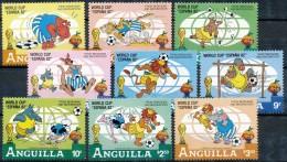 ANGUILLA 1982, Walt Disney, Wold Cup Espana 1982, Football, Animaux, SC, **/mnh - 1982 – Espagne