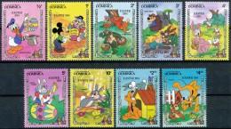 DOMINICA 1984, Walt Disney, Pâques, Easter, Mickey, Donald, ?, SC, **/mnh