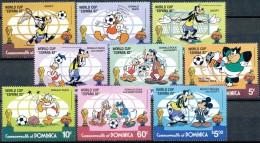 DOMINICA 1982, Walt Disney, Wold Cup Espana 1982, Football, Mickey, Donald, Goofy, SC, **/mnh - Dominica (1978-...)