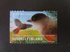 Finlande. 2003. Yvert N° 1597 Ob. Faune. Oiseau. Mésangeai Imitateur. Perisoreus Infaustus