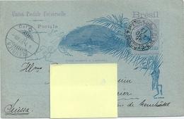 Carte Postale Union Postale Universelle Brésil 1897 - Brésil