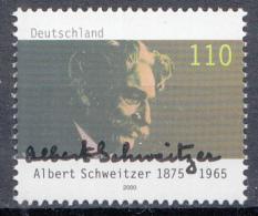 West-Duitsland - 125. Geburtstag Von Dr. Albert Schweitzer - MNH - M 2090 - Albert Schweitzer