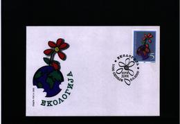 Makedonien / Macedonia 2000 Ecology FDC - Umweltschutz Und Klima