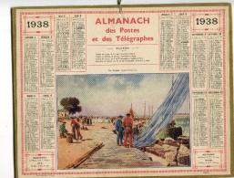 Almanach Postal Et Télégraphique 1938 - Calendriers