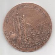 Médaille Signée S.R. Santucci 1978 Banque Groupe Société Générale Financement Des Investissements Calif 1928 Filiale Cré - Profesionales / De Sociedad