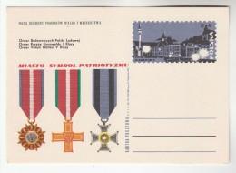 1970 POLAND Postal STATIONERY CARD Illus POLISH MEDALS, PATROTISM , WARSAW Cover Stamps Medal - Interi Postali