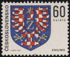 Czechoslovakia / Stamps (1975) 2134: Coat Of Arms Czechoslovak Cities - City Znojmo (eagle)