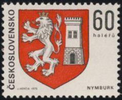Czechoslovakia / Stamps (1975) 2135: Coat Of Arms Czechoslovak Cities - City Nymburk (lion)