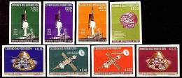 PARAGUAY 1964 SPACE SC.#814-21 Imperforated MNH (DEB04U7) - Paraguay