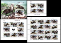 MOZAMBIQUE 2016 - WWF African Otter. Complete Perf. Set - W.W.F.