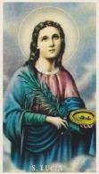 SANTINO - Holy Card - Image Pieuse - S.Lucia - Santini