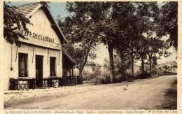 """01 SAINT-MAURICE-DE-GOURDANS - PORT-GALLARD - Plage Café-restaurant """"Beau Rivage"""" - Autres Communes"""