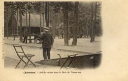 94 CHARENTON Jeu De Boules Dans Le Bois De Vincennes  Carte Précurseur Edit.Davignon Le Raincy - Parks, Gardens